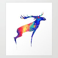 moose Art Prints featuring Moose by Verismaya