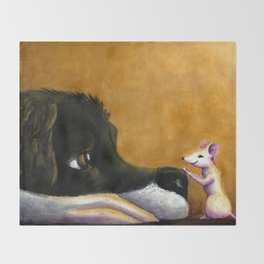 Dog and Mouse Throw Blanket