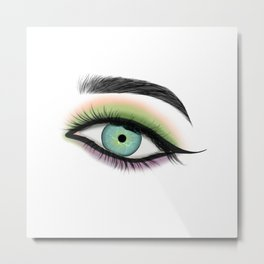 Close Up Of A Green Eye Metal Print