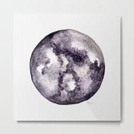 Watercolor Moon - Lunar Violet Metal Print