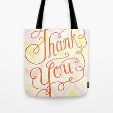 Thank you - hand lettered on chevron Tote Bag