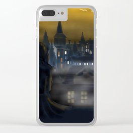 Girl Watching City Clear iPhone Case