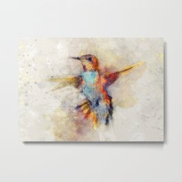 Hummingbird art series Metal Print