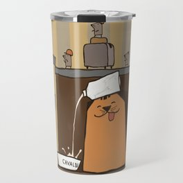 Cavaldi raiding the fridge Travel Mug