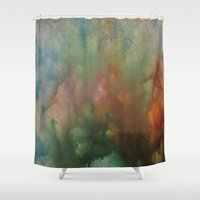 angels Shower Curtains featuring Angels by Benito Sarnelli