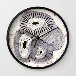 SEA FLOWERS n°2 Wall Clock