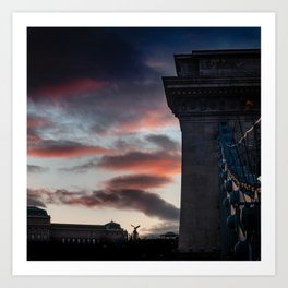 skyporn in Budapest Art Print