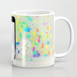 Creativity Concept and Creative Mind with Inspiration on Mobile Coffee Mug
