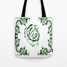 green damask rose Tote Bag