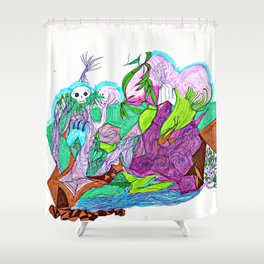 Fractal Landscape Shower Curtain