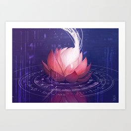 Netrunner - Self Modifying Code Art Print