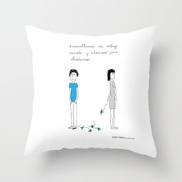Secret Code to Forget Throw Pillow