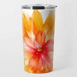 Alcohol Ink - Peach Bellini Travel Mug