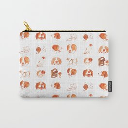 Faces and Poses of a Brittany Spaniel Carry-All Pouch