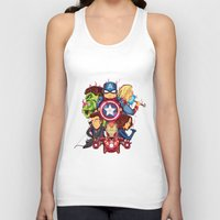 avenger Tank Tops featuring The Avenger by rendhy wahyu