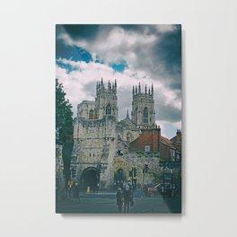York Minster and Bootham Bar Metal Print