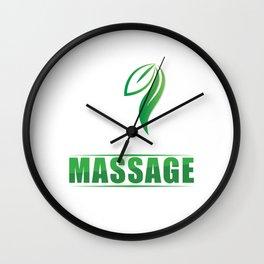 Live Love Relax Massage Therapy Therapist Massaging Reflexology Gift Wall Clock