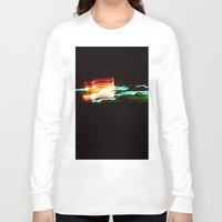 santa monica Long Sleeve T-shirts featuring Night Lights Santa Monica Holiday Inn by David Hohmann