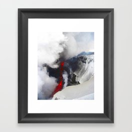 THE LAND OF ICE AND FIRE Framed Art Print