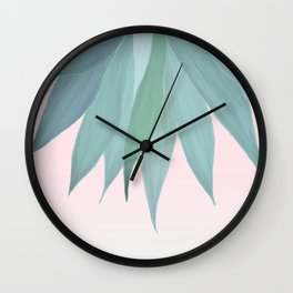 Delicate Agave Fringe Illustration Wall Clock