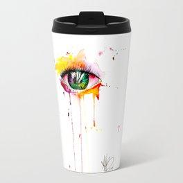 watercolor eye Travel Mug