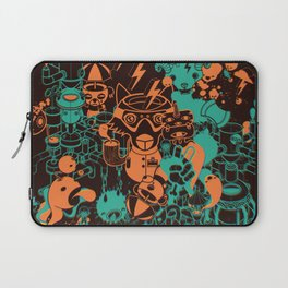 Dream Factory Orange and Blue Laptop Sleeve