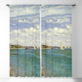 Claude Monet - Regatta at Sainte-Adresse Blackout Curtain
