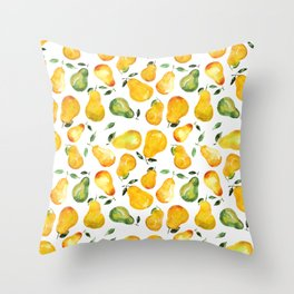 Sweet pears Throw Pillow