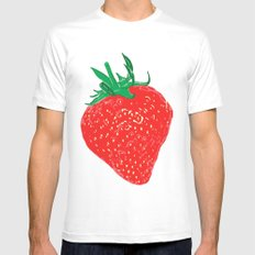 Strawberry, 2013. White Mens Fitted Tee MEDIUM