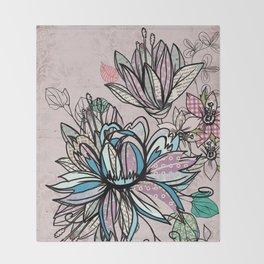 Paper Flowers #1 Throw Blanket