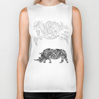 rhino Biker Tanks featuring Rhino by famenxt