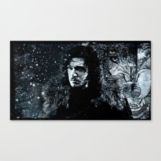 Winter's Coming Black Border Canvas Print