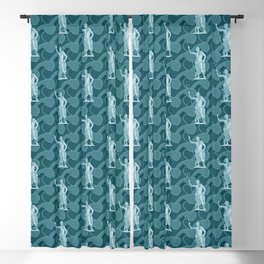 Poseidon OCEAN BREEZE / All hail the god of the sea Blackout Curtain