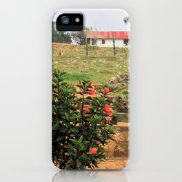 Flowers In A Village In Rural Haiti iPhone Case