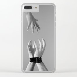 Helping Hand Clear iPhone Case