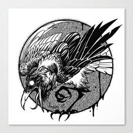Noisy raven Canvas Print