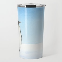 Penguin Watercolor Travel Mug