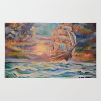 ship Area & Throw Rugs featuring Ship by Kali Koltz