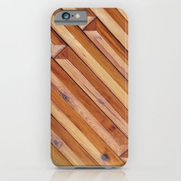 wooden details on the ceiling iPhone Case