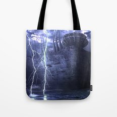 Alien Thunder  Tote Bag