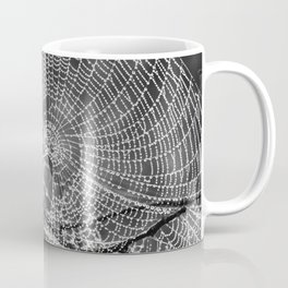 Raindrop Covered Spiderweb Coffee Mug
