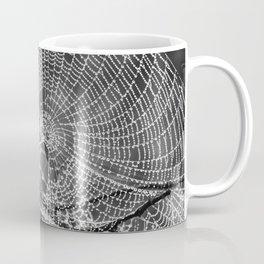 Raindrop Covered Spiderweb Coffee Mug