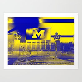 Michigan Stadium Art Print