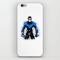 nightwing iPhone & iPod Skins featuring Nightwing by fouur