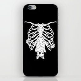 Cute Bat in Ribcage iPhone Skin