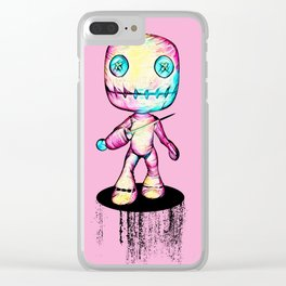 Crazy Voodoo Doll With A Pin Clear iPhone Case