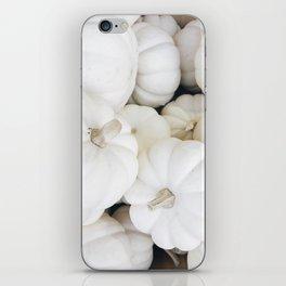 White Pumpkins iPhone Skin