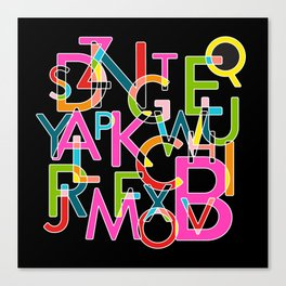 Alphabet Deconstructed Colour Canvas Print