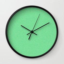Dense Melange - White and Dark Pastel Green Wall Clock