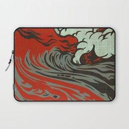 Lava Meets The Sea Laptop Sleeve